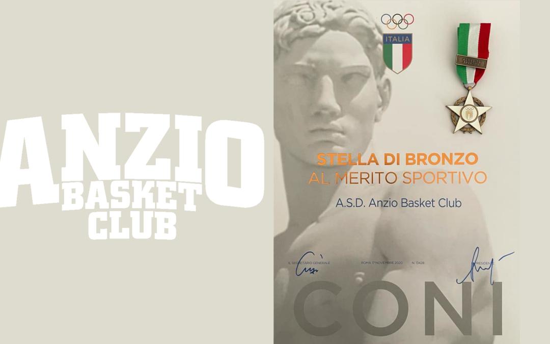 All'Anzio Basket la Stella di Bronzo al Merito Sportivo